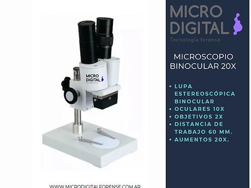 MICROSCOPIO ESTEREOSCOPICO 20X