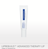 LIPREBUILD™ ADVANCED THERAPY LIP TREATMENT NET WT. 16 G / 0.56 OZ. Bioengineered to reverse and restore severely dry, cracked and wrinkled lips using a clinically proven moisture recycling technology. Helps restore lips to their natural, rosy color Helps plump lips to improve overall shape, size and contour