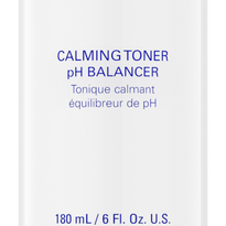 CALMING TONER 180 ML // 6 FL. OZ. U.S.  Calming, pH balanced toner that removes impurities and invigorates weak and sensitive skin.  BENEFITS:  *Helps soothe and repair sensitive/weak skin *Gentle, cooling action adds comfort  DIRECTIONS FOR USE:  *Apply to face and neck with cotton pad.  ADVANCED INFORMATION:  *Hamamelis virginiana (witch hazel): Visibly reduces pore size  *Sodium hyaluronate, sodium PCA, panthenol and allantoin: Exclusive blend of conditioners, moisturizers and hydrators helps soothe treated skin