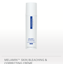 80 G / 2.8 OZ. Melamin™ Skin Bleaching & Correcting Crème contains 4% hydroquinone, which is a highly effective treatment for moderate to severe hyperpigmentation, especially melasma. This potent compound gradually bleaches and lightens a wide variety of skin conditions.   BENEFITS Helps reduce irritation associated with hydroquinone Hydrates newly exposed skin