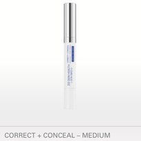 CORRECT + CONCEAL – MEDIUM NET WT./POIDS NET 2.5 G / 0.09 OZ. Spot corrector and concealer erases the visible signs of skin imperfections while gently exfoliating pore-clogging dead skin cells and dirt. BENEFITS Soft focus concealer provides an instant, natural, long-lasting matte coverage Maximum strength acne medication treats & prevents acne on the surface of the skin and within the pore Added tea tree oil helps keep skin clean