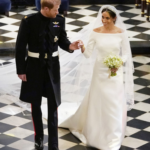 Meghan Markle and Prince Harry ceremony exit