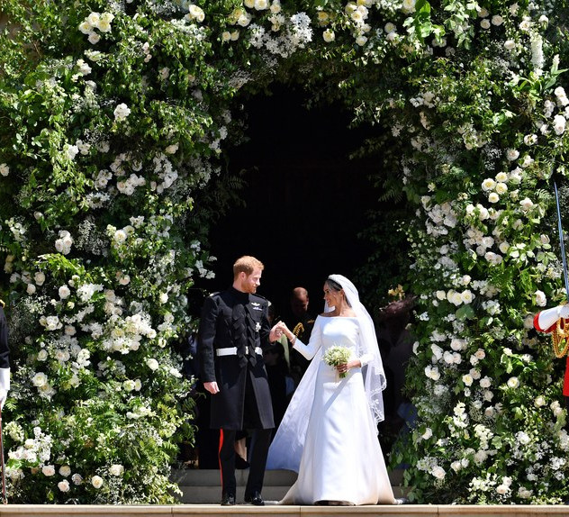 Meghan Markle and Prince Harry at windsor castle