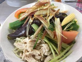 夏野菜たっぷり冷やし中華麺