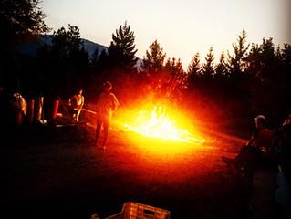 Winter Camp Fire