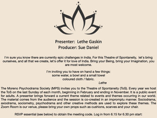 The Electronic Theatre of Spontaneity - Sunday May 30th 2021