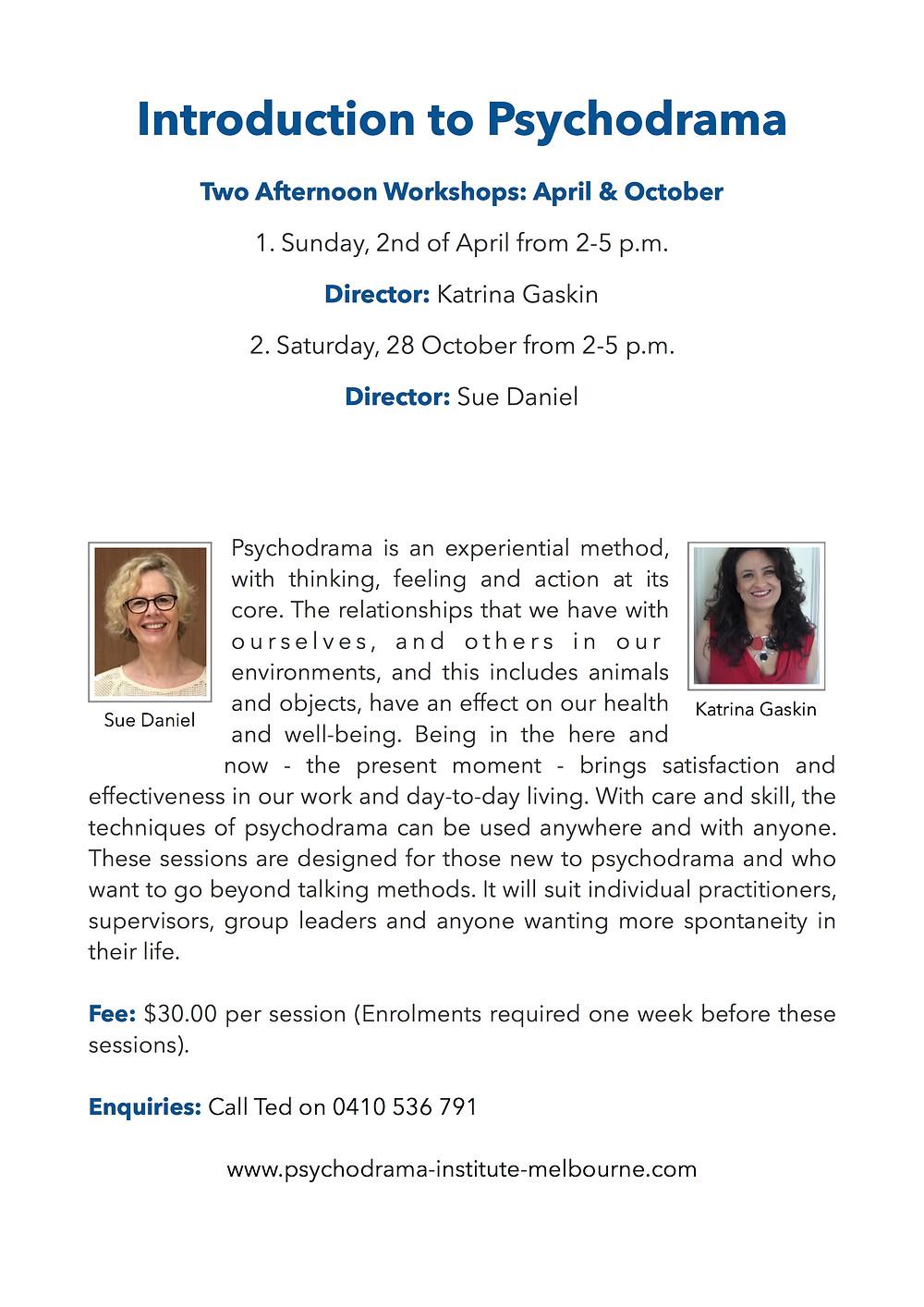 An Introduction to Psychodrama with Katrina Gaskin