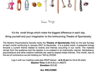 The Electronic Theatre of Spontaneity - Sunday November 29th 2020