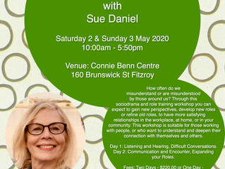 May Weekend Workshops with Sue Daniel