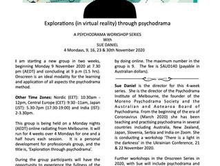OnScreen - A Psychodrama Workshop Series with Sue Daniel