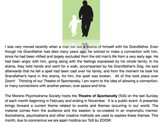 The Electronic Theatre of Spontaneity - Sunday October 25th 2020