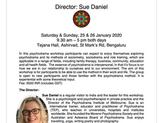 Sue Daniel in Bangalore India, Jan, 2020