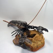 metal art lobster