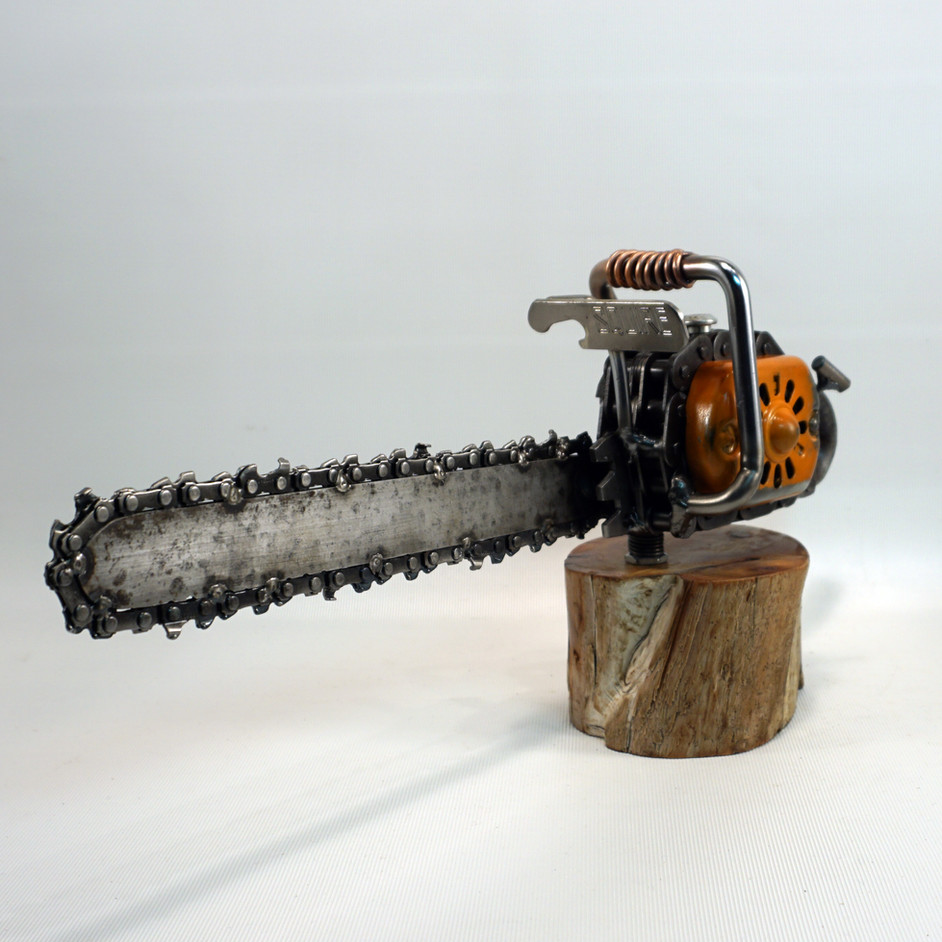 metal art chainsaw