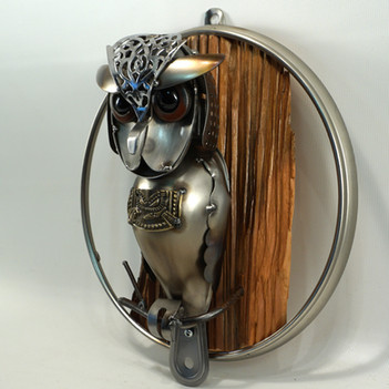 metal art wall hanging owl
