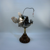 metal art Angler Fish