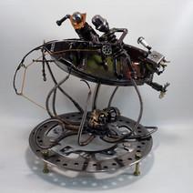 metal art fishermen 3