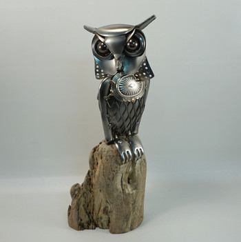 metal art owl 2