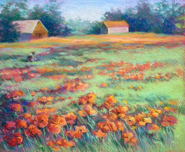 The Poppy Field  Pastel.jpg