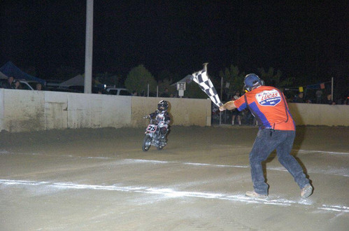 Travis first race win