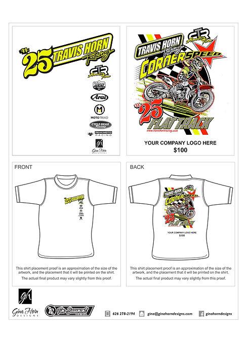 THR Flat Track T-Shirt Sponsor