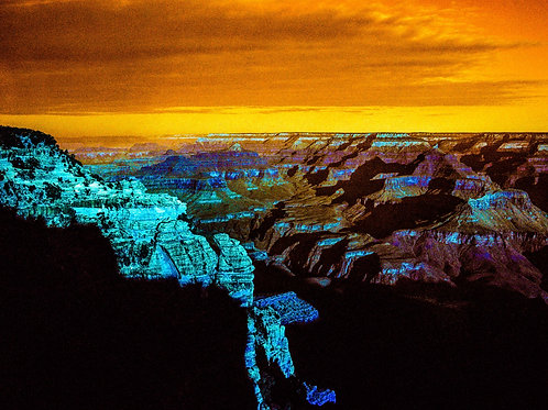 Turquoise Series: The Grand Canyon (aluminum print)