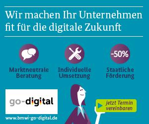 Autorisiertes Beratungsunternehmen im Programm go-digital