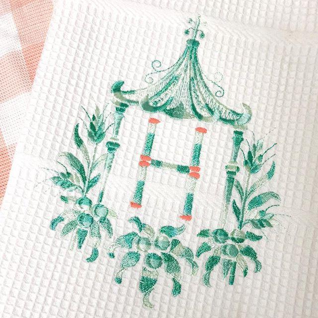 Ombré Pagoda 😍 💚 #theupstairsmonograms