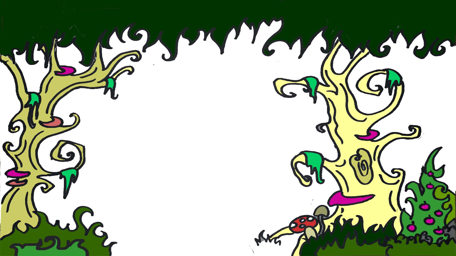 Märchenwald-Bäume