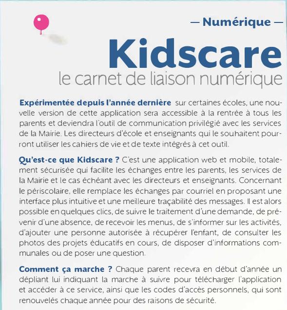 KidsCare le cahier de liaison numérique