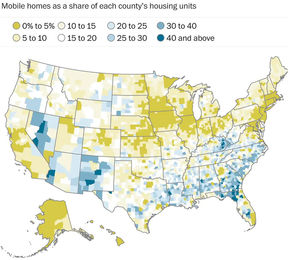 Map of Mobile Home Parks in USA