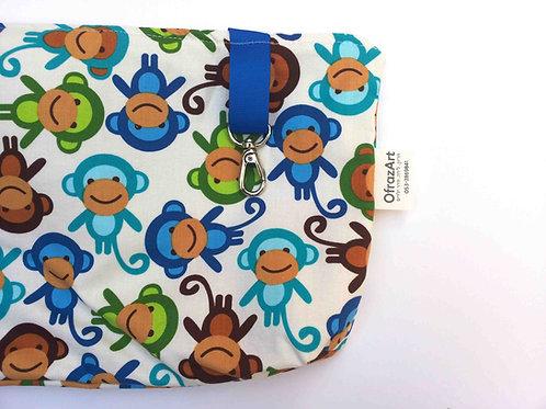 תיק החתלה | דגם קופים