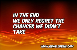 IN THE END WE JUST REGRET