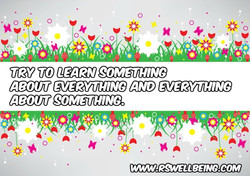 try learn something about something