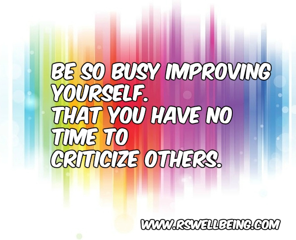 BE SO BUSY IMPROVING YOURSELF