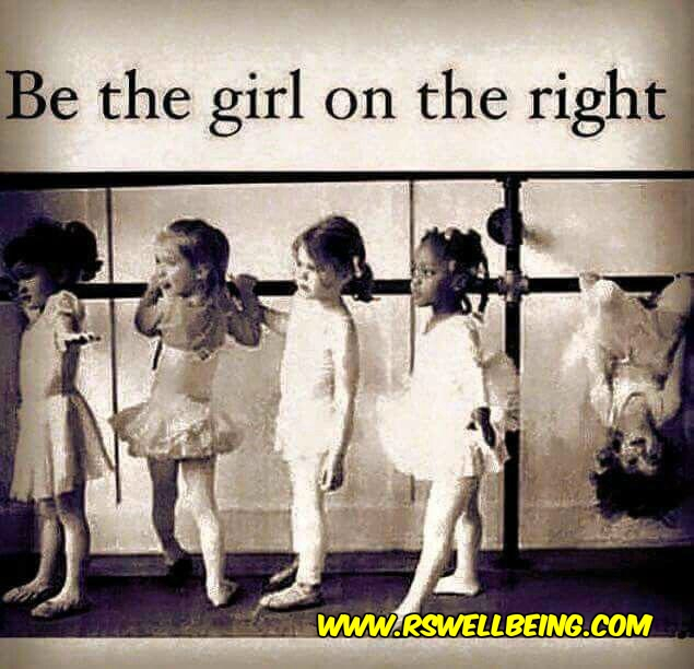 BE THE GIRL IN THE RIGHT