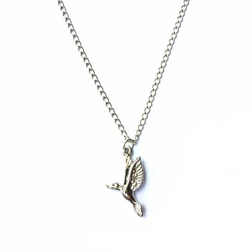 Silver bird necklace aloadofball Gallery