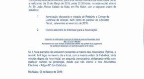 ASSEMBLEIA GERAL DOS BOMBEIROS VOLUNTÁRIOS DE RIO MAIOR