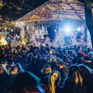 Le Parc des Pins, le kiosque en lumière au TMB Winter 2019 - Ambiance