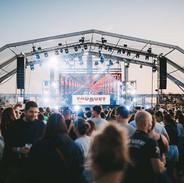 Vue d'ensemble de jour au Touquet Music Beach Festival 2019