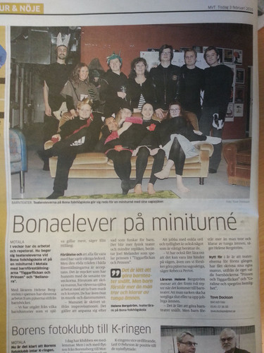 """Article about """"Bellanora"""" (play), Sweden"""