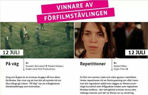 """""""På väg"""" (kort) Vann ett pris vid Flimmer Film Festival, Sverige 2017"""