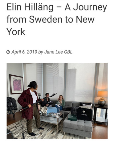 Artikel om Elin Hillängs resa som svensk skådespelerska i New York