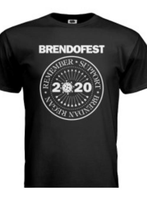 Brendofest 2020 T-Shirt - Black shirt, white print
