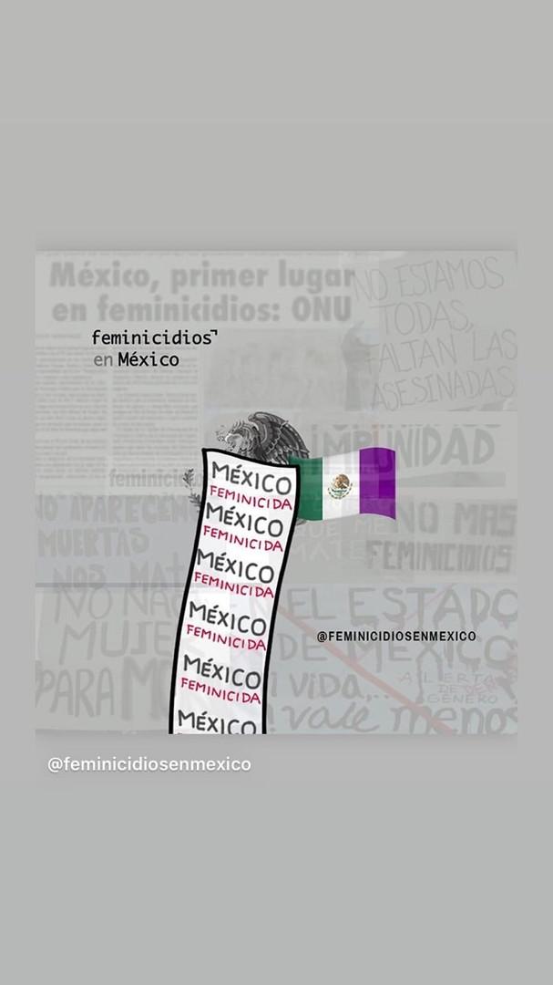Publicado por @feminicidosenméxico