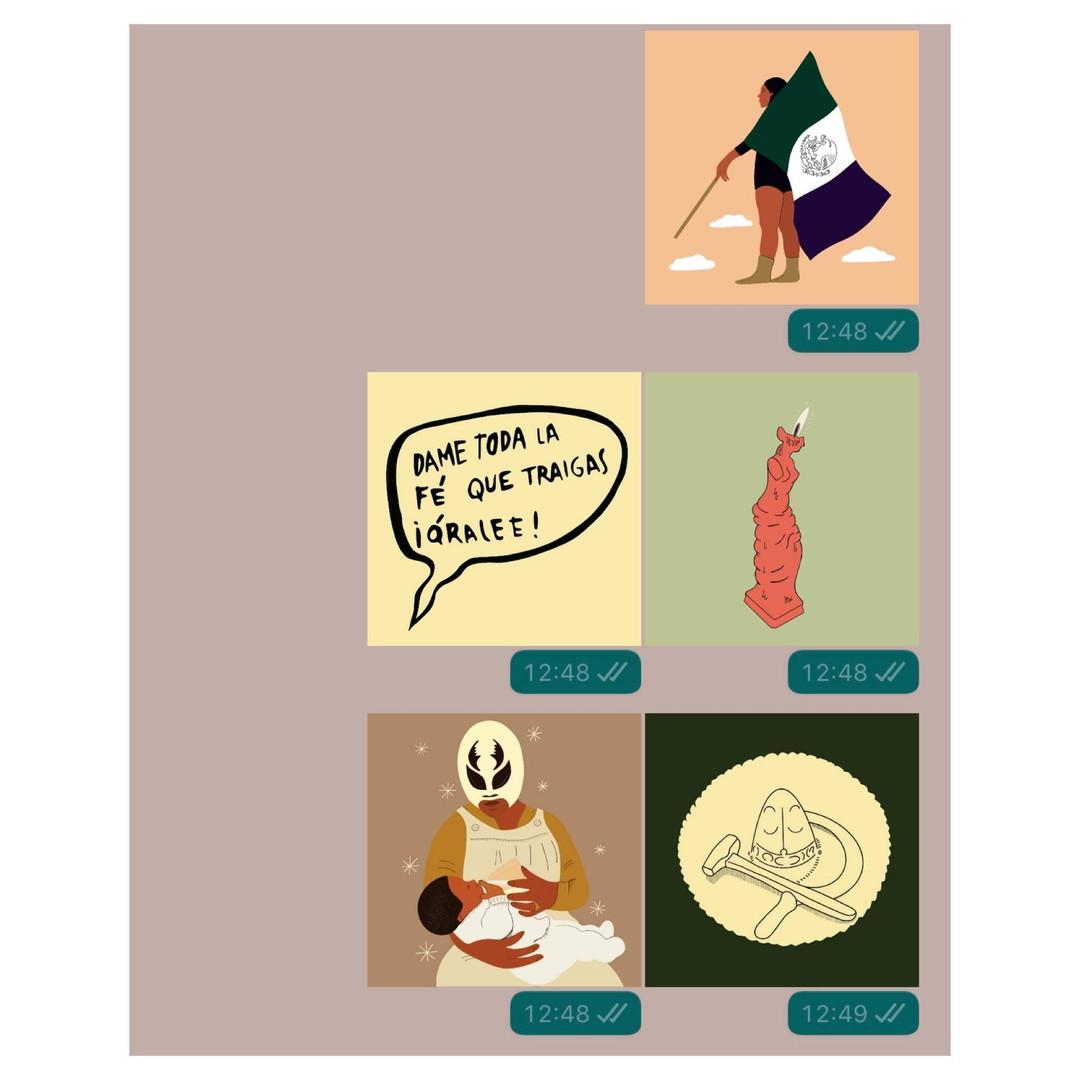 Stickers creados por Eréndira Derbez
