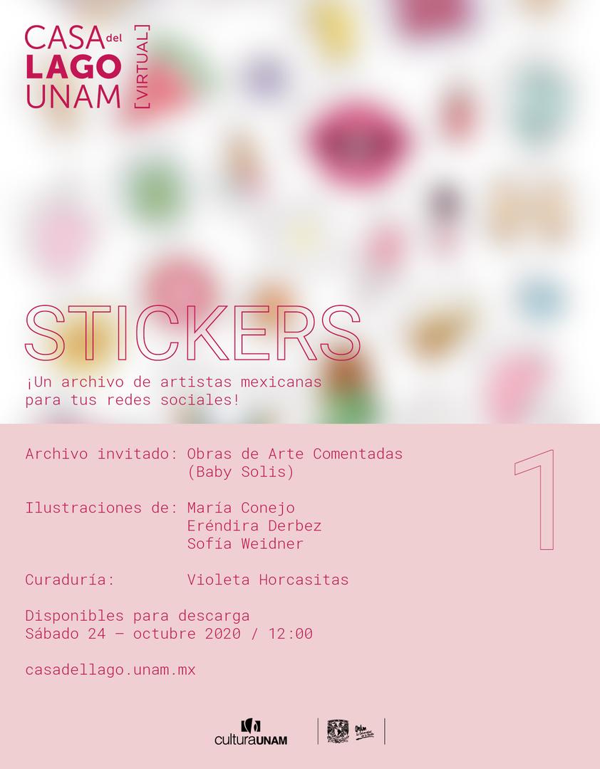 Difusión Stickers - Casa del Lago UNAM