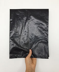 Coloqué la hoja impresa en una bolsa negra