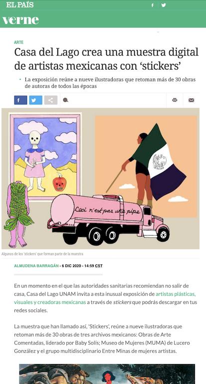 Casa del Lago crea una muestra digital de artistas mexicanas con 'stickers'