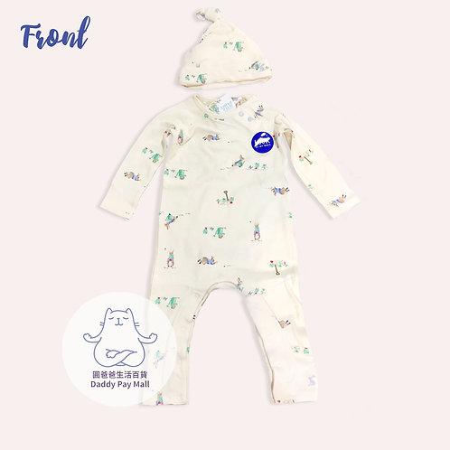 比得兔圖案嬰兒連體衣連帽套裝 Peter Rabbit Print Baby Bodysuit and Hat Set